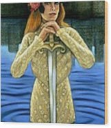 Lady Of The Lake Wood Print by Sue Halstenberg