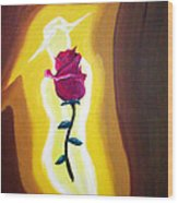 Lady Rose Wood Print