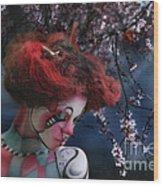 Lady Spring Silence Wood Print