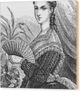 Lady With Fan, C1878 Wood Print