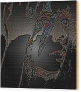 Ladygaga  Wood Print