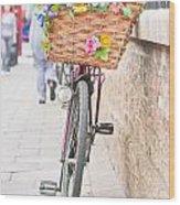 Lady's Bike Wood Print