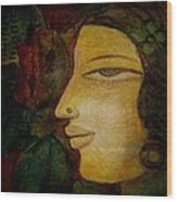 Lady's Face Wood Print