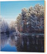 Lagan Meadows During Winter, Belfast Wood Print