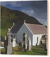 Lagg Church, Inishowen Peninsula, Co Wood Print