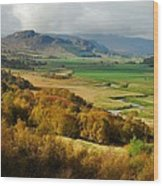 Laggan Autumn - The Clan Mcphersons Seat Wood Print by John Kelly