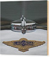 Lagonda Hood Emblem Wood Print