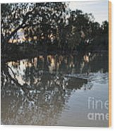 Lagoon At Dusk Wood Print