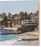 Laguna Beach Waterfront Homes Wood Print