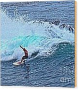 Laguna Surfer Wood Print