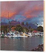 Lahaina Harbor Wood Print
