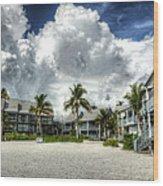 Lahaina Resort In Fort Myers Beach Wood Print by Vicki Jauron