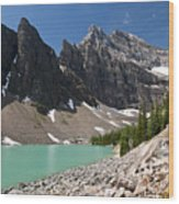 Lake Agnes And Mt Whyte Wood Print
