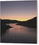 Lake Anderson Sunset Wood Print