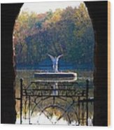 Lake Angel Wood Print