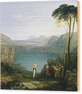 Lake Avernus - Aeneas And The Cumaean Sibyl Wood Print