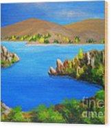 Lake  Aviemore - - Fine Art Impressionist Serenity Landscape Wood Print