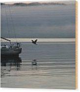 Lake Calm Wood Print