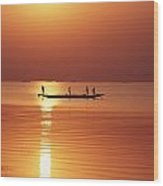 Lake Chilka At Sunrise Wood Print