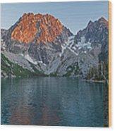Lake Colchuck Sunset Wood Print