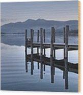 Lake District Jetty Wood Print