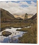 Lake District Reflections Wood Print by Justin Albrecht