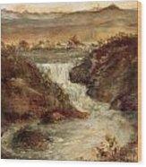 Lake Falls Wood Print