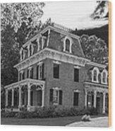 Lake George Farmhouse Wood Print
