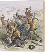 Lake George: Massacre, 1757 Wood Print