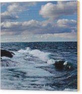Lake Gitchee Gumee Wood Print