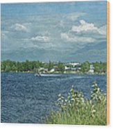 Lake Hood Anchorage Alaska Wood Print
