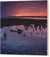 Lake Huron Sunset Wood Print