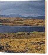 Lake In A Bog, Oughterard, Connemara Wood Print
