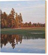Lake Lila Sunset Wood Print