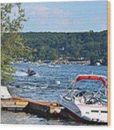 Lake Living 1 Wood Print