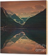 Lake Louise Abstract Wood Print