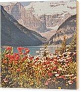 Lake Louise Alberta Wood Print