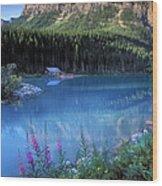 Lake Louise Banff Canada Wood Print