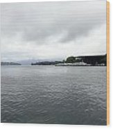 Lake Lucerne And Cruise Ships Berthed In Front Of Kkl Wood Print