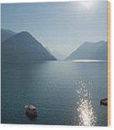 Lake Lugano Wood Print