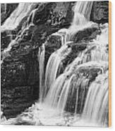 Lake Mcdonald Falls Glacier National Park Wood Print