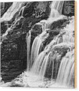 Lake Mcdonald Falls Glacier National Park Wood Print
