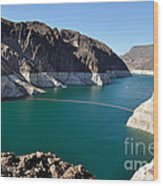 Lake Mead By Hoover Dam Wood Print