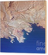 Lake Mead Shores Nv Planet Earth Wood Print