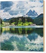 Lake Misurina - Dolomites, Italy Wood Print