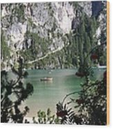 Lake of Braies Wood Print