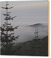 Lake Of Low Clouds Wood Print