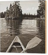 Lake Of The Woods, Ontario, Canada Boat Wood Print