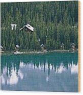 Lake Ohara Lodge And Cabins Wood Print by Michael Melford
