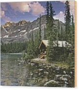 Lake Ohara Lodge Wood Print